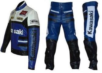 Kawasaki Motobike Leather Suit Bsm 2656