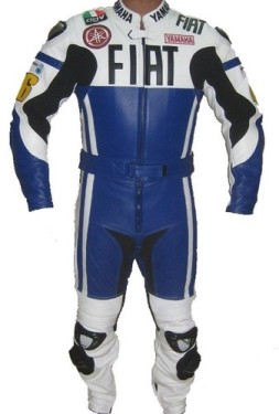 YAMAHA FIAT Motorcycle Men Leather Suit