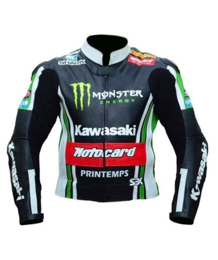 Kawasaki Motorbike Leather Jacket
