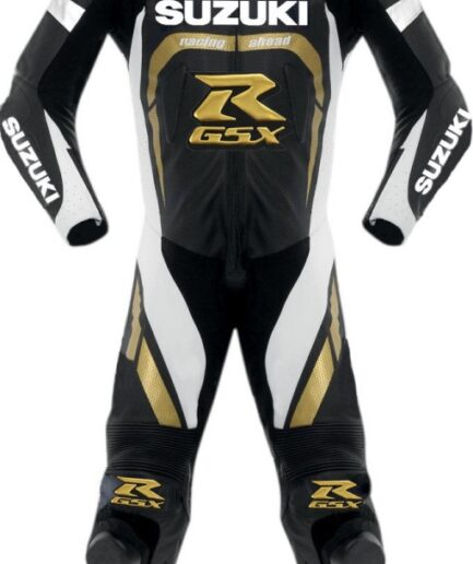SUZUKI Motorbike Branded Sport Leather Suit