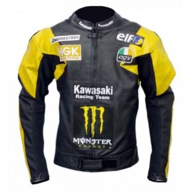 Kawasaki Biker Leather Jacket BMJ 2626