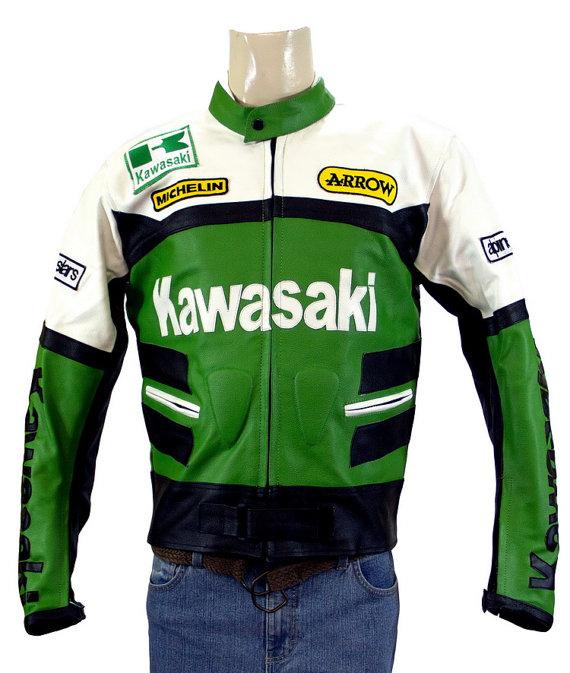 Kawasaki Biker Leather Jacket