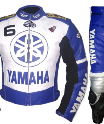 YAMAHA 6 Motorcycle Branded Leather Suit