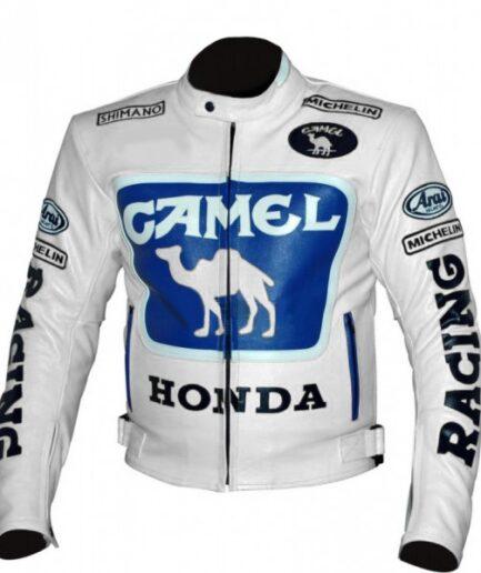 HONDA Camel Motorcycle Racing Leather Jacket