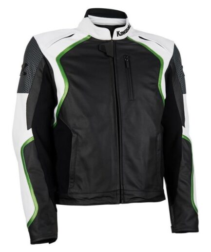 Kawasaki Men Motorcycle Leather Jacket