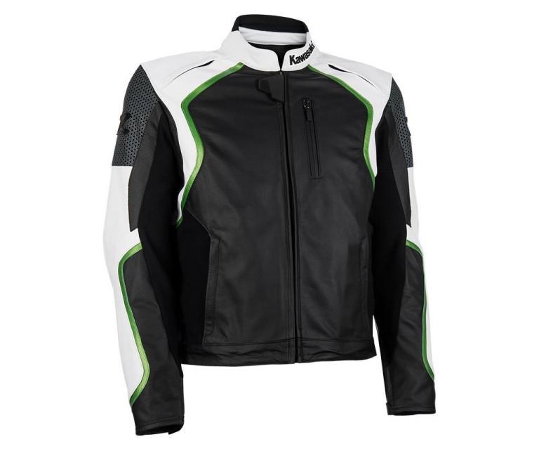 Kawasaki Men Motorcycle Leather Jacket