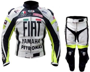 YAMAHA FIAT Motorbike Men Leather Suit