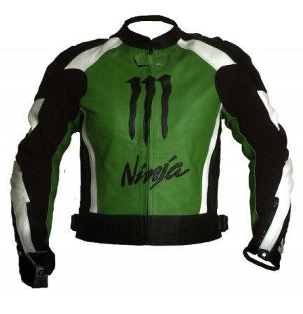 Kawasaki Motorbike Branded Leather Jacket