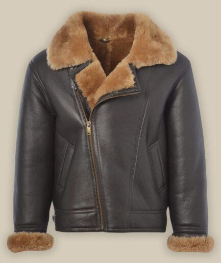 Men B3 Bomber Shearling Jacket