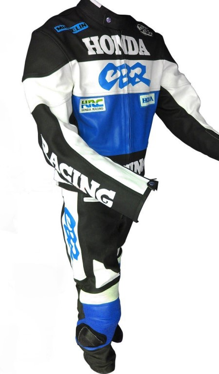 HONDA Motorbike Men Leather Suit BSM 2964