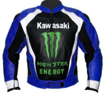 Kawasaki Motorcycle Leather Jacket BMJ 2613
