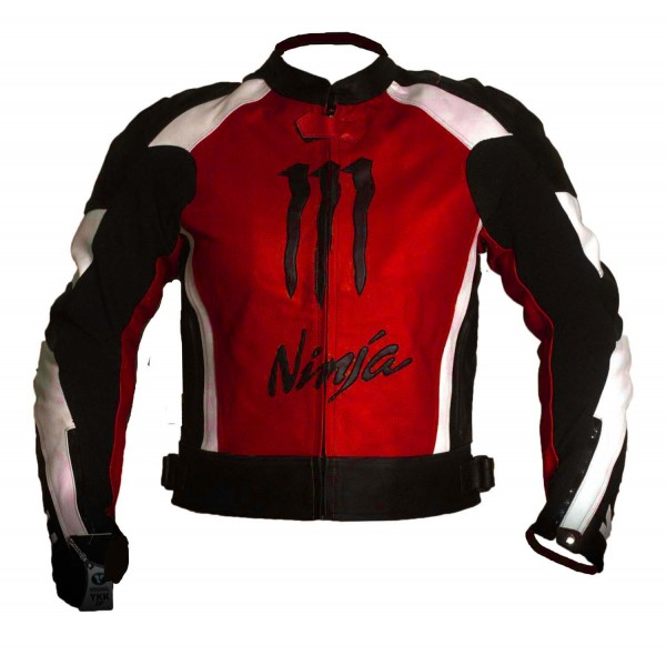 Kawasaki Motorbike Branded Leather Jacket BMJ 2619