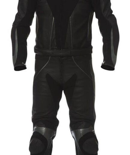 Black Motorbike Leather Suit