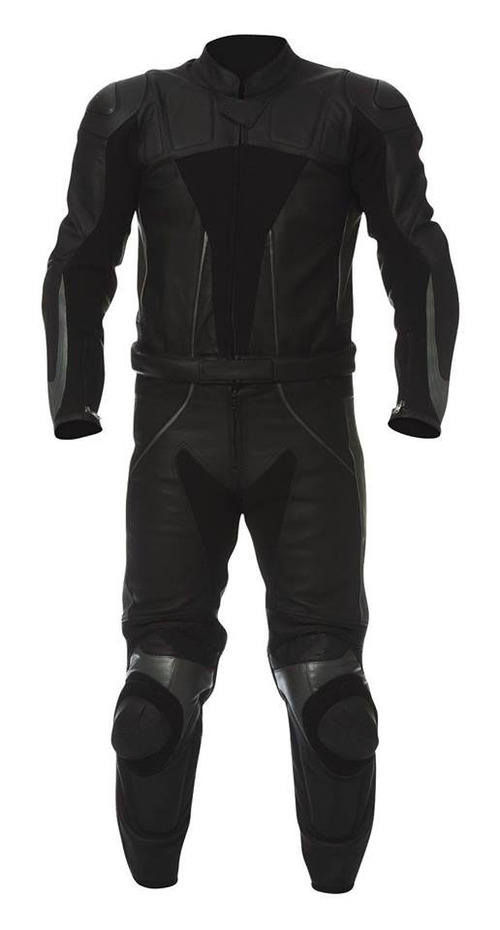 Black Motorbike Leather Suit