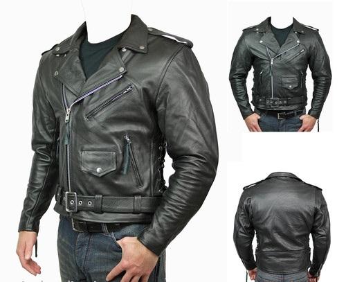 Classic Motorbike Leather Jacket