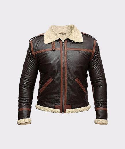 B3 Aviator Leather Jacket Mens