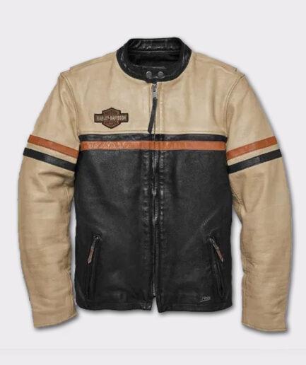 Harley Davidson Men's High-Quality Motorbike Racing Leather Jacket