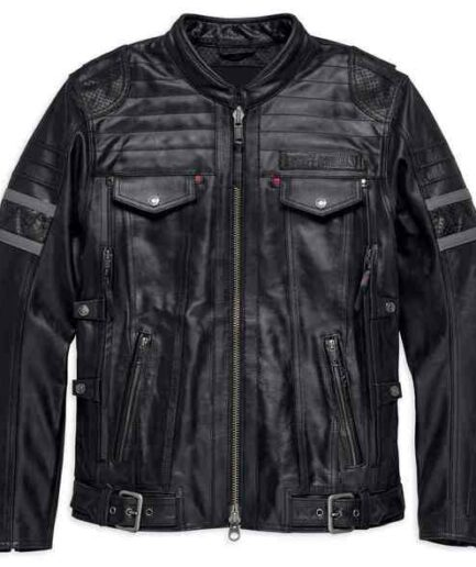 Harley-Davidson Men's Triple Vent System Wick Twister Leather Jacket