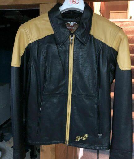 Harley Davidson Men Leather Reflective Riders Jacket