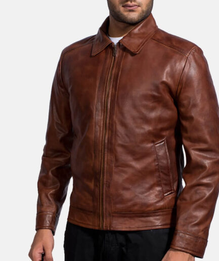 Men's Inferno Brown Leather Jacket