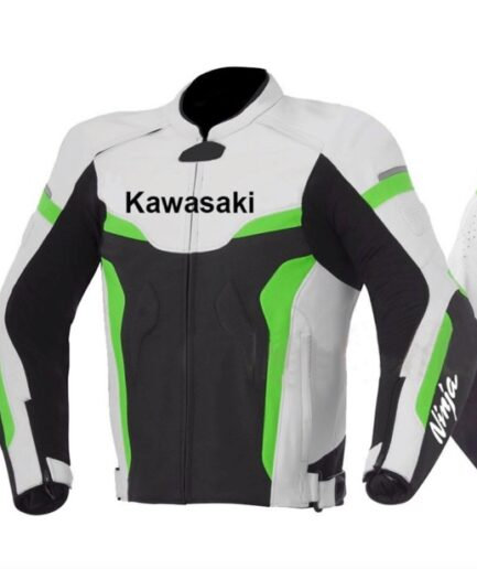 Kawasaki Motorbike Branded Leather Jacket