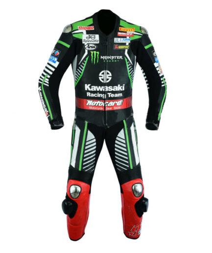 Kawasaki Motorbike MotoGP Monster Leather Racing Suit