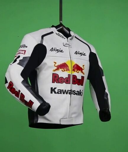 Kawasaki Ninja Red Bull Motorbike Leather Jacket