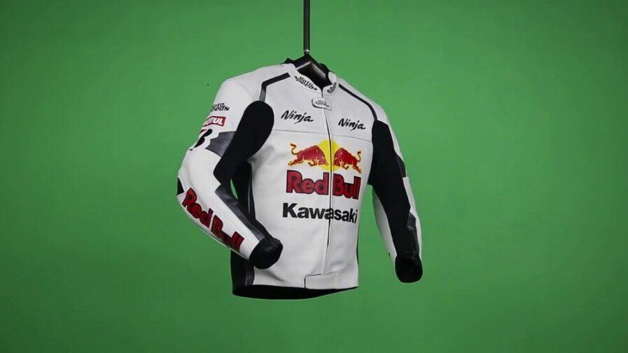 Kawasaki Ninja Red Bull Motorbike Leather Jacket
