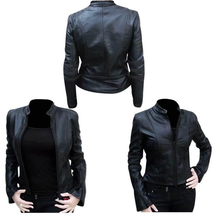 Ladies Motorbike Racing Leather Jacket