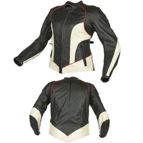 Ladies Motorbike Sport Leather Jacket