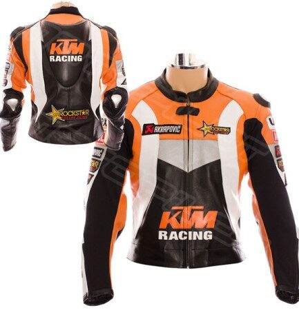 MEN KTM Motorcycle Leather Jacket