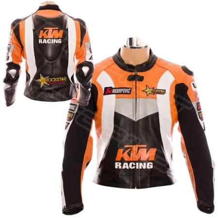 MEN KTM Motorcycle Leather Jacket