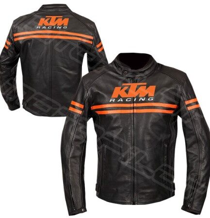 Men KTM Motorcycle Leather Jacket MLJ