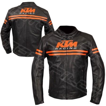 Men KTM Motorcycle Leather Jacket MLJ