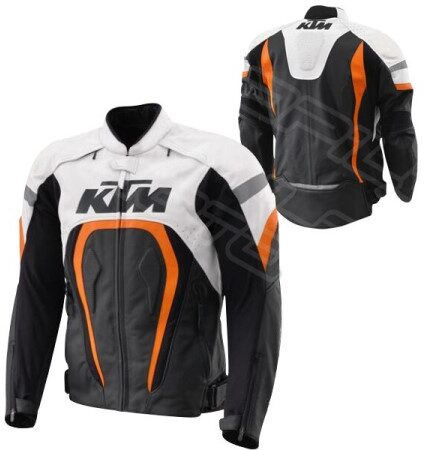 MEN KTM MOTORCYCLE LEATHER JACKET MLJ-067-KTM
