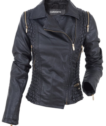 Manhattan Ladies Motorbike Leather Jacket