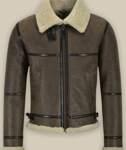 Men B3 Brown Air Force Shearling Jacket