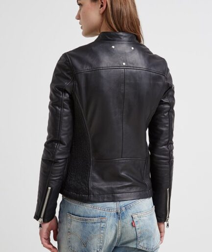 Minto Ladies Motorbike Leather Jacket
