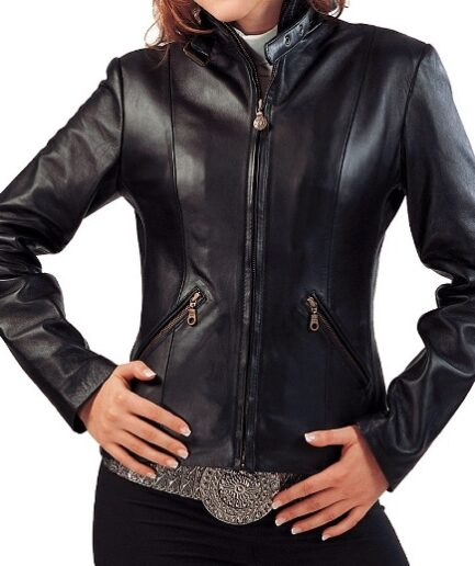 Nadia Ladies Motorbike Leather Jacket