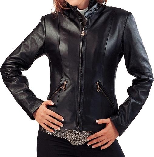 Nadia Ladies Motorbike Leather Jacket