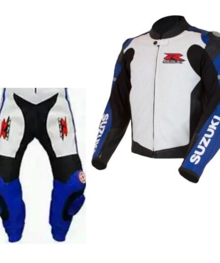 SUZUKI GSXR Motorcycle Racing Leather Suit