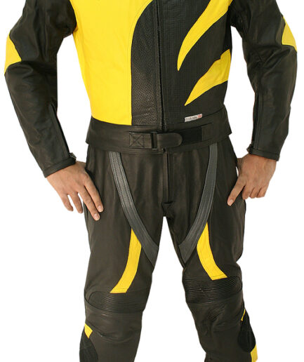 Skull Racer Motorbike Leather Suit