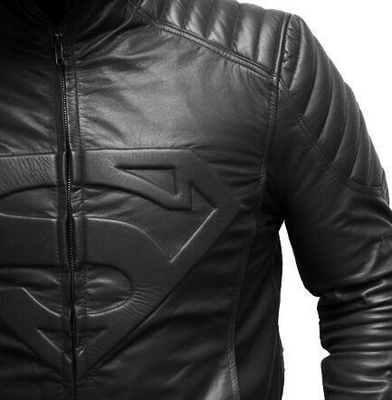 Superman Motorbike Leather Jacket
