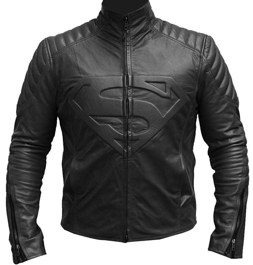 Superman Motorbike Leather Jacket