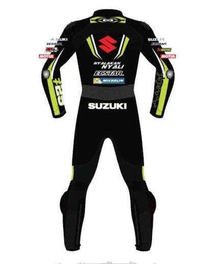 Suzuki Ecstar Black MotoGP Biker Race Leather