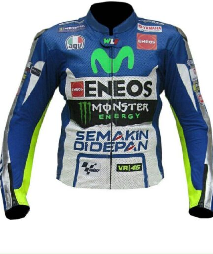 Yamaha MOVISTAR ENEOS Motorcycle Leather Jacket