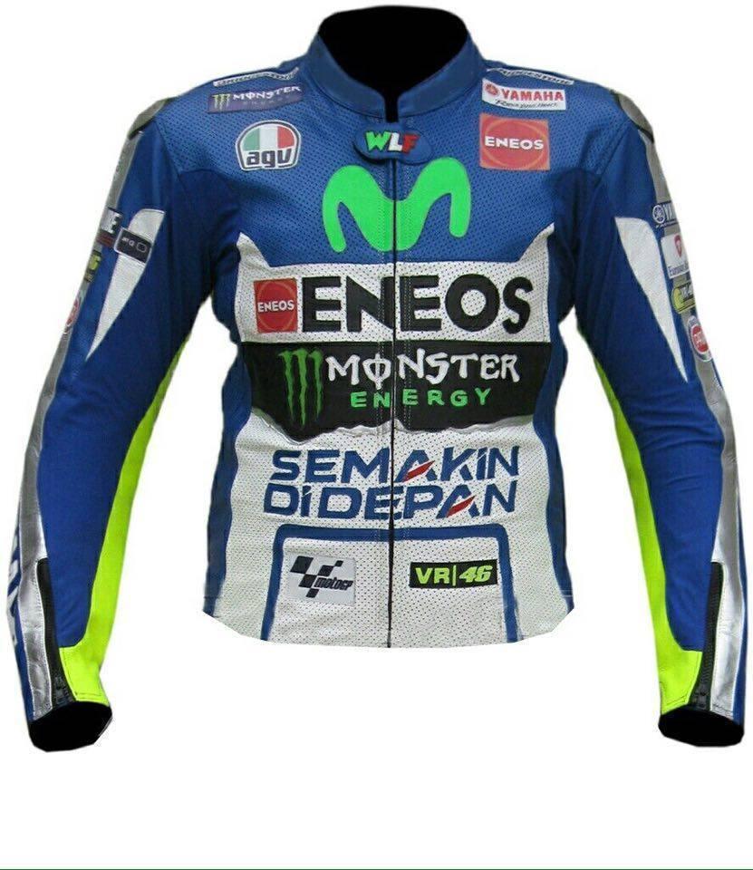 Yamaha MOVISTAR ENEOS Motorcycle Leather Jacket