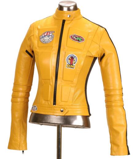 Women Sport Motorbike Leather Jacket