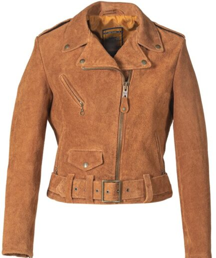 Women's Rough Out Cow Suede Cropped Perfecto Jacket