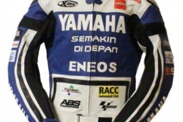 Yamaha Racing Motorbike Leather Jacket BMJ2870